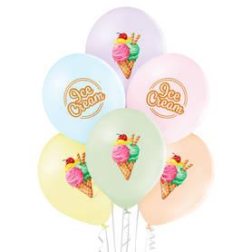 Balony w pastelowych kolorach idealne na otwarcie lodziarni